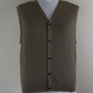 Haggar Collections Size Large Textured Front Vest